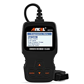 ANCEL AD310 Classic Enhanced Universal OBD II Scanner Car Engine Fault Code Reader CAN Diagnostic Scan Tool-Black 1 Classic design, fast scan and clear trouble codes, even a beginner can use this unit to read the error code, find out what the problem is and perhaps fix it. Save money and time. Works on MOST 1996 US-Based, 2000 EU-Based and Asian cars, and newer OBD II & CAN domestic or import vehicles. Supports English, German, French, Spanish, Finnish, Dutch, Russian and Portuguese. Easily determines the cause of the check engine light. I/M monitor readiness test, turn off the MIL (check engine light) as well as view freeze frame data. Read hard (memory) / pending (intermittent) and historic codes and show definitions.