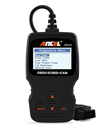 ANCEL AD310 Classic Enhanced Universal OBD II Scanner Car Engine Fault Code Reader Diagnostic Scan Tool - Black