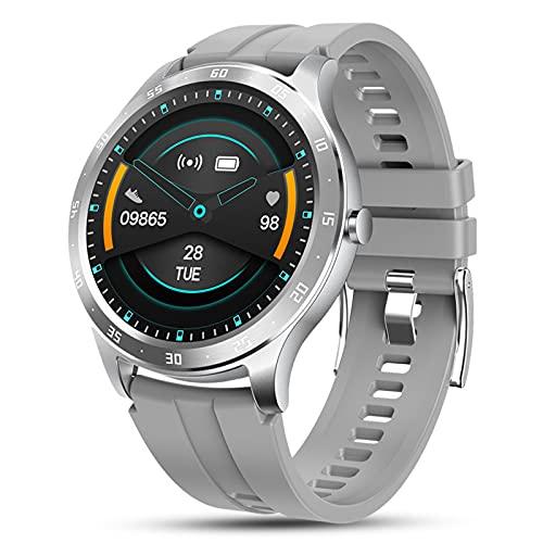 Reloj inteligente, pantalla táctil completa de 1,28 ', cuerpo resistente al agua IP67 con recuento de pasos, sueño, grabación de datos de ejercicio, envío de mensajes, reloj despertador diario, info
