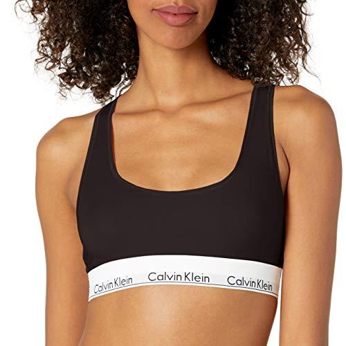 Calvin Klein Women's Regular Modern Cotton Bralette, Black, Large