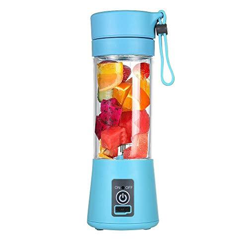 YUYDYU Licuadora de Taza de Jugo, Mezcla de Frutas, portátil, 400 ml, 6 Cuchillas, Recargable por USB, Vegetal