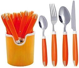 RoyalFord RF7284, 24 Pcs Cutlery Set, Silver&Orange
