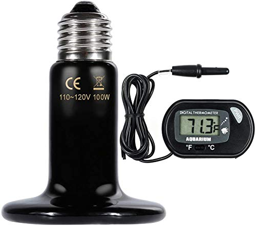 Price comparison product image Taiko Reptile Heating lamp 100W,  with a Digital Thermometer