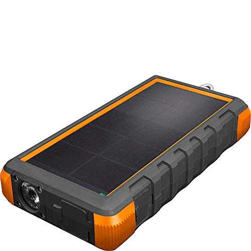 ToughTested Solar Charger – 24000mAh Portable Solar Powerbank with LED Flashlight - IP67...
