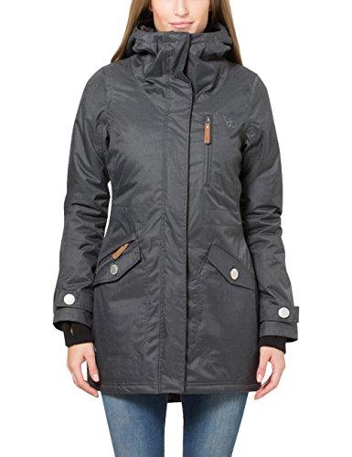 Berydale Damen Parka Jacke wasser- und winddicht, Gr. 34 (Herstellergröße: XS), Schwarz (Schwarz/Grau)