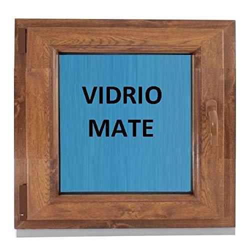 (V18M) Ventana Pvc color Madera 600x600 Pract. Osc. Roble Do