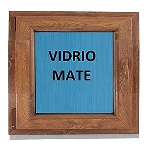(V18M) Ventana Pvc color Madera 600x600 Pract. Osc. Roble Dorado (IZQUIERDA)