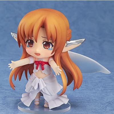 ODEUXS Q Version Clay Sword Art Online ALO Asuna Fairy Birdcage Face-Changing Doll 10cm (9.84 inch) Holiday Gift, Desktop Decoration, car Decoration