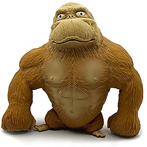 KKPLZZ Juguetes de Figuras de Anime, Juguetes de Figuras de Animales Salvajes, Mono de látex, Juguetes de Gorila, Figuras de Animales de la Selva, niños