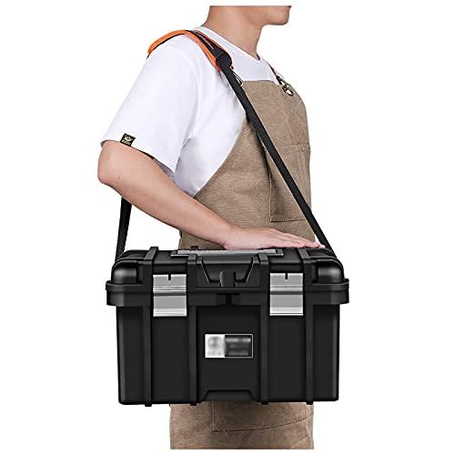 Organizador de caja de herramientas Organizador multiusos de la caja de almacenamiento de la herramienta plástica con la manija portátil y el hardware de la herramienta de la correa de hombro desmonta