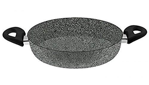 Ballarini Cortina Granitium Tegame 2 Maniglie, Alluminio, Grigio Puntinato, 28 cm