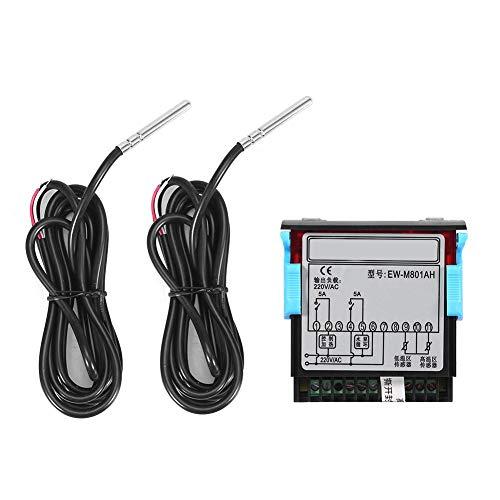 Temperaturregler, Solarwarmwasserbereiter Temperaturregler Thermostat mit digitaler Sensoranzeige, Temperaturdifferenz und Temperatur zur Steuerung des Ausgangs