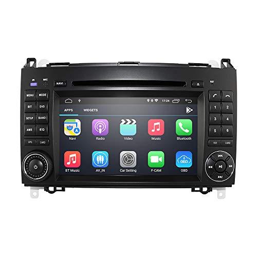 Android 10 Radio 7 Zoll DVD-Player Navigator für Mercedes-Benz A-Klasse W169 B-Klasse W245 V-Klasse W639 W906 Sprinter 2500/3000 Unterstützung Radio RDS Bluetooth Mirror-Link WiFi Lenkradsteuerung