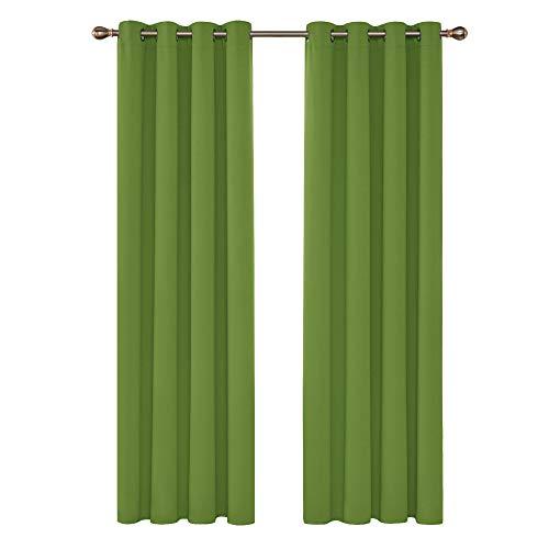 cortinas verdes dormitorio