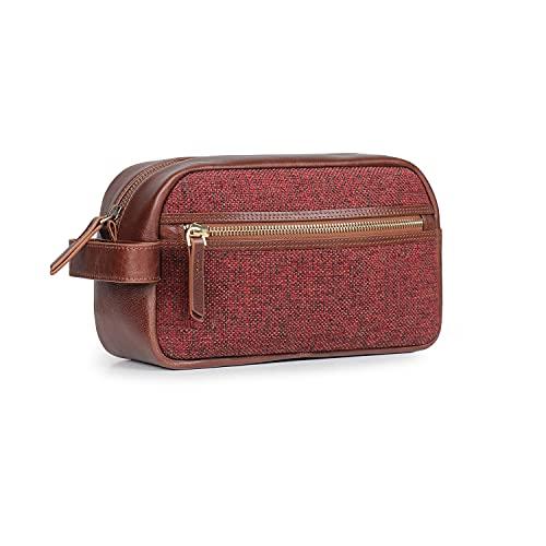 Londo Reisetasche aus echtem Leder, Unisex, gewebter Stoff