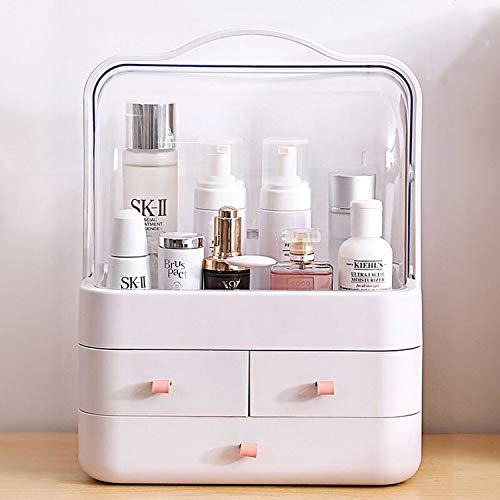 Kertou Organisateur Maquillage, boite organisateur maquillage, rangement maquillage, Les tiroirs transparents de la boîte d'affichage conviennent aux rouges à lèvres