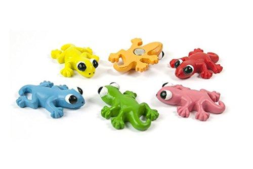 6 x Kühlschrankmagnete Gecko 34x22x8mm Magnete für Pinnwand Magnettafel - Magnete für Kühlschrank, Magnetboard, Kinder Magnetwand, Tiermagnete