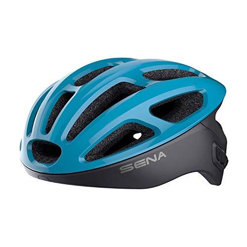 Sena Unisex-Adult Smart Cycling Helmet (Ice Blue, Medium)