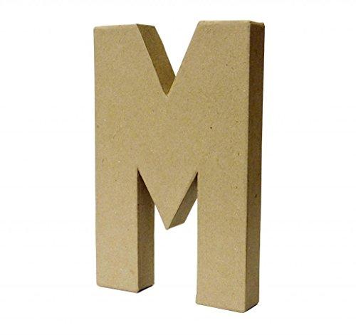 Papier Paper Mache Large Letters 20.5cm - Cardboard Craft (M)
