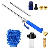 Hydro Jet High Pressure Power Washer,High Pressure Power Washer Wand for Garden Hose with Jet Nozzle,Car Pressure Washer Wand with Magic Spray Gun,Standard Spray Nozzle and Window Heavy Duty Watering