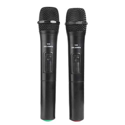 GFDFD 1/2 unids micrófono inalámbrico Karaoke ecosistema Cantando micrófono Karaoke Player con Receptor USB para Android TV Box Smart TV