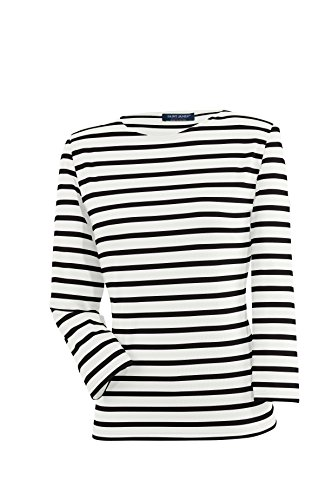 Saint James Galathée - Streifenshirt - Bretagne-Shirts Neige/Noir (40)