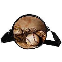 ショルダーバッグ、クロスボディプロテクションワンショルダーバッグ、キャンバス軽量、軽量 ヴィンテージ野球