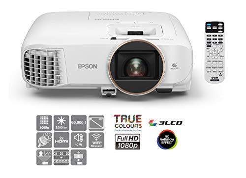 Epson EH-TW5650 Desktop-Projektor 2500ANSI Lumen 3LCD 1080p (1920x1080) 3D Weiß - Beamer (2500 ANSI Lumen, 3LCD, 1080p (1920x1080), 60000:1, 16:9, 2,35 - 3,82 m) [UK Version]
