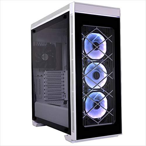 Lian Li E-ATX対応PCケース 4面強化ガラス リモコン操作RGBファン ホワイト Alpha 550 WHITE 日本正規代理店品
