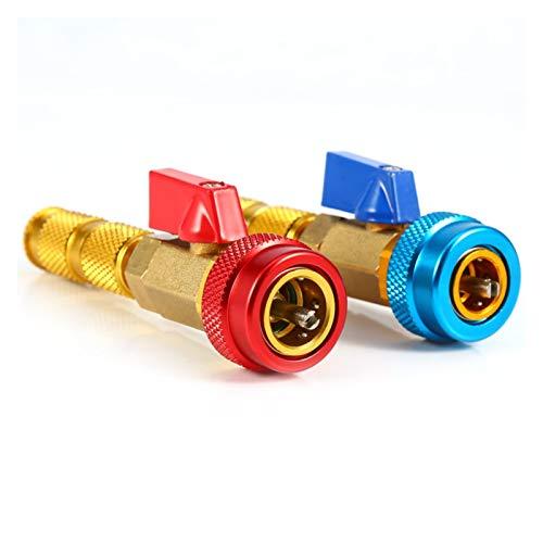 LXH-SH Das elektromagnetische Ventil Auto-Klimaanlage Ventileinsatz R134a Schnell Remover Installer Niederdruck Refrigeranadapter Kit Ventileinsatz-Remover-Werkzeug Industriebedarf
