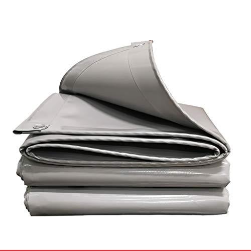Graue Abdeckplane, verdicktes PVC-Messertuch, wasserdichtes Regentuch, verschleißfeste Sonnenschutz- und Anti-Aging-Plane, Korrosionsbeständigkeit, Schattiernetz (Größe: 2...