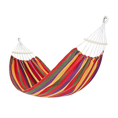 Hamac Camping lit Suspendu balançoire Portable Double Chaise hamac balançoire en Plein air Chaise Adulte intérieur Famille Dormir (Color : Red, Taille : 200 * 100cm)