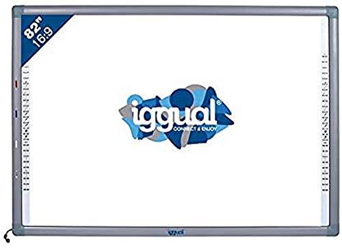 """iggual IGG314388 82"""" Pantalla táctil USB Gris, Color blanco pizarra y accesorios interactivos - Accesorio pizarra interactiva (USB, USB Type-A, 100 mA, CE, FCC, ROSH, ISO, Gris, Color blanco, 1776 mm)"""