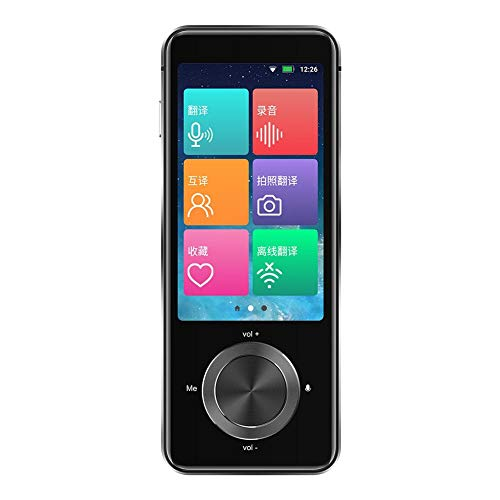 Caste Language Translator Device, Smart Intelligent Two Way WIFI/hotspot/Bluetooth Instant 3.0 Inch Touch Screen Support 107 Languages Pocket Voice Translation Function Travelling Learning Business