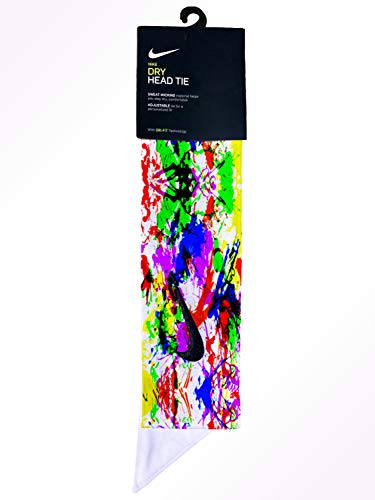 Custom Multi. Color Paint Splatter Dri-Fit Head Tie Headband - Black, White, Yellow, Pink, Green, Blue, Purple, Orange