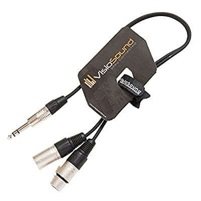 """6.35mm 1/4"""" Stereo TRS Jack to 1 x Male & 1 x Female XLR/Insert Lead with XLR In/Out 0.5m"""