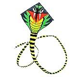 YiPong Extra grande Kite Line Stunt Juguete para niños Cometa Verde Serpiente Chica y Niño Cometa Deportes al aire libre Juguete Educativo Regalo Cometas para Niños Cometas para Niños