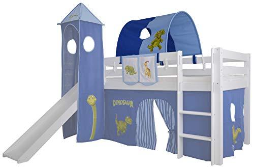Mobi Furniture Tunnel Dinosauerier für Hochbett Höhle Etagenbett Spielbett Kinderbett Bettdach