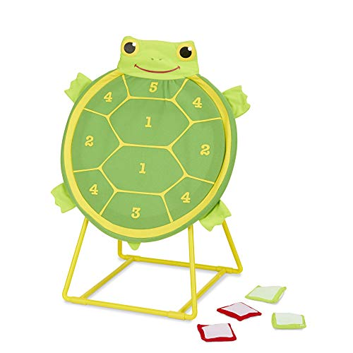 Melissa & Doug Sunny Patch Tootle Turtle Target Toss Game With 4 Self-Stick Bean Bags