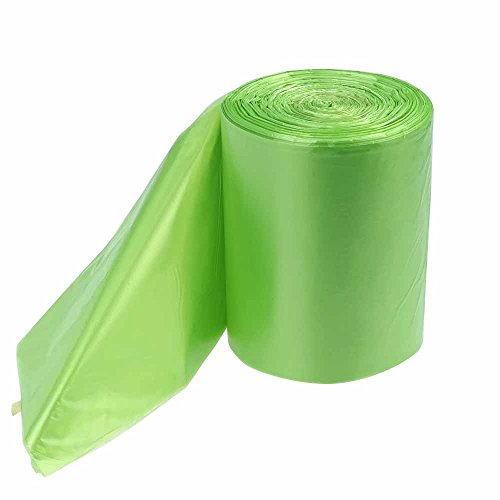 Annkky 6 Litros Bolsas de Basura, 125 Bolsas, Verde Bolsas de Basura Pequeñas