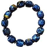 12x10mm Natural Blue Pietersite Gemstone Chatoyant Namibia Barrel Beads Women Men Bracelet AAAAA