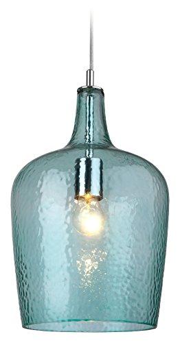 Schalen-Pendelleuchte 1-flammig Vas Farbe (Schirm): Aqua