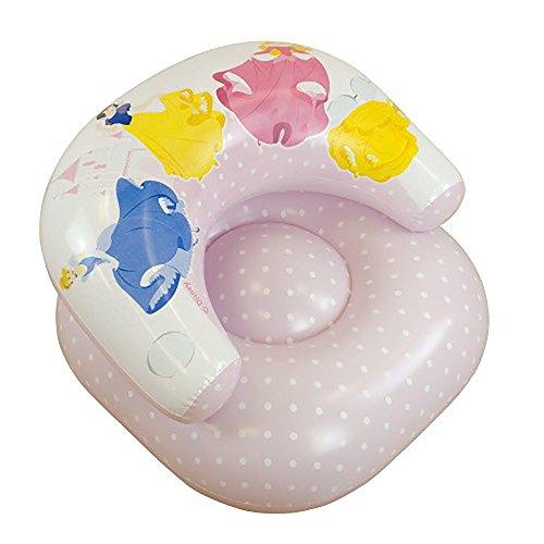 Kinder Mädchen Sessel, aufblasbar, mit Disney Prinzessinnen Design (siehe Beschreibung) (Pink)