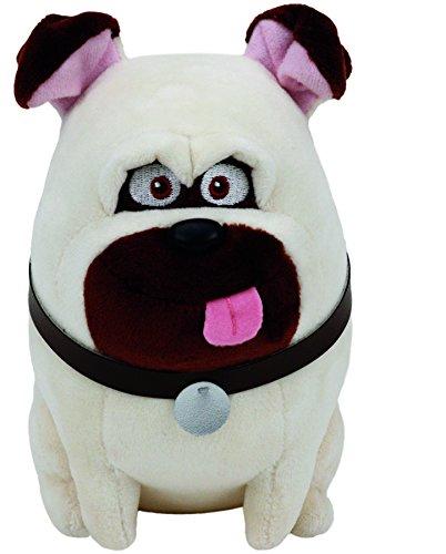 Carletto Ty 41164 Mel Pug Dog Pets Plüsch, Weiß/Schwarz