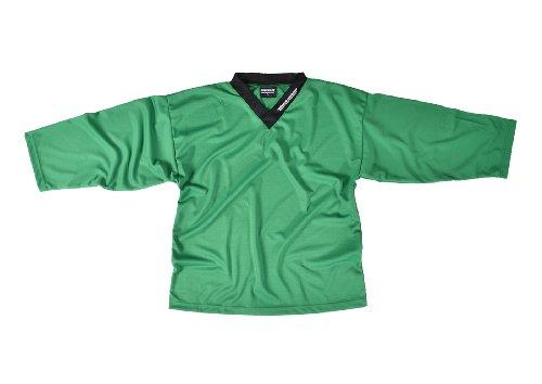 SHER-WOOD - Eishockey Trainingstrikot für Erwachsene I stilvolles Practice Jersey aus gelochtem, Grün, Gr. XXXL