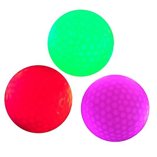 VORCOOL 3Pcs leuchtende Nacht Golfbälle LED leuchten Golfbälle Wiederverwendbare Nacht Golfball