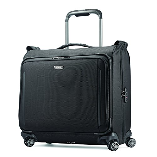 Samsonite Silhouette XV Softside Luggage with Spinner Wheels, Black, Garment Bag
