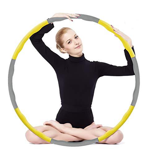 SHINEZONE Aro de fitness para adultos, con 8 segmentos, extraíble, adecuado para fitness, deporte, hogar, moldeo abdominal (1,2 kg)