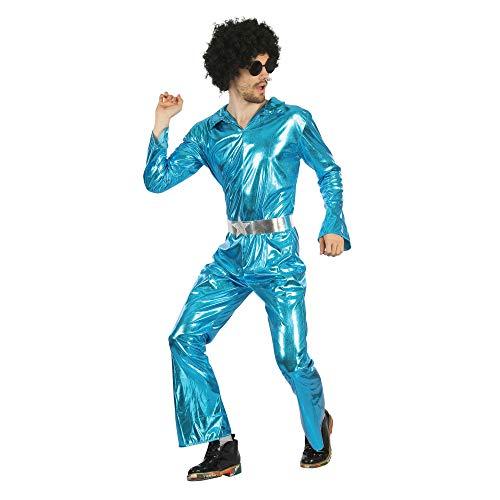 Bristol Novelty AF092 Disco Jumpsuit, Mannen, Blauw, One Size