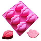 Red Lips Silicone Soap Molds 3D Sexy Lips Kisses Collection Silicone Molds Chocolate Candy Bath Bomb Mould Ice Cube Jello Tray Cupcake Cake Baking Mold Wedding Party Supplies